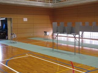 記載台と投票箱