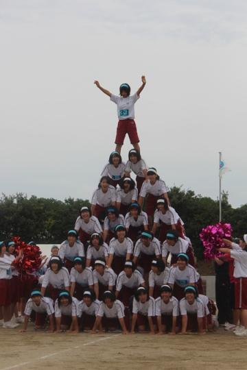 6段ピラミッド完成